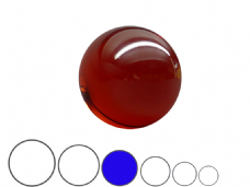 Jac Products Lava Red Translucent 80mm Acrylic Contact Ball